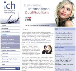 ICH Galway Logo Design and Web Design