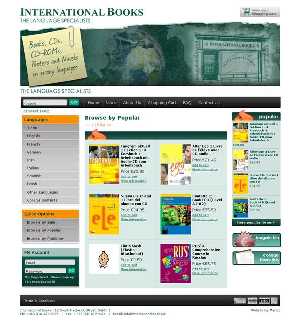 International Books Bookstore Ecommerce Website