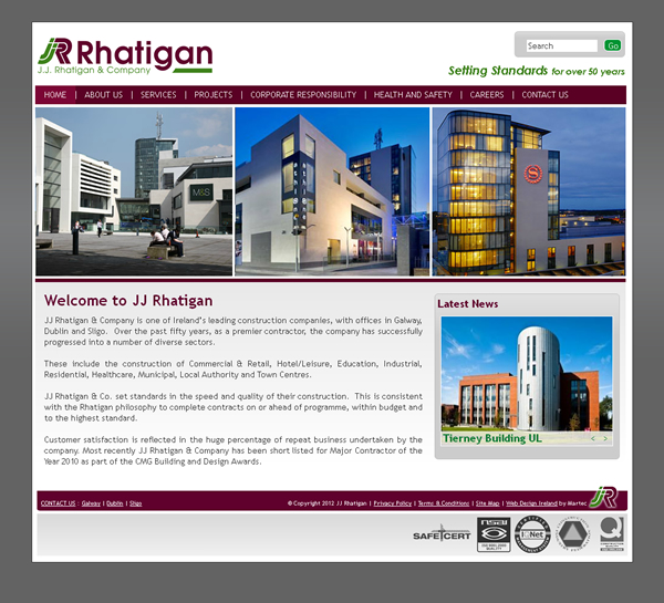 JJ Rhatigan Galway Web Site Design