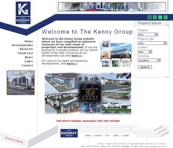 Kenny Group Builders Website