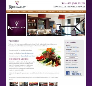Kingsvalley Hotel Galway Web Site Design