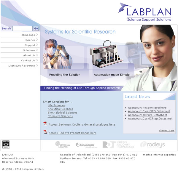 Labplan Logo and Website Design