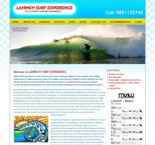 Lahinch Surf Experience Website Design