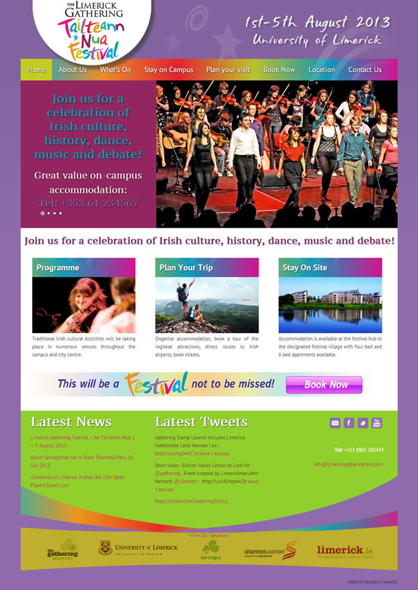Limerick Gathering Festival Website Design