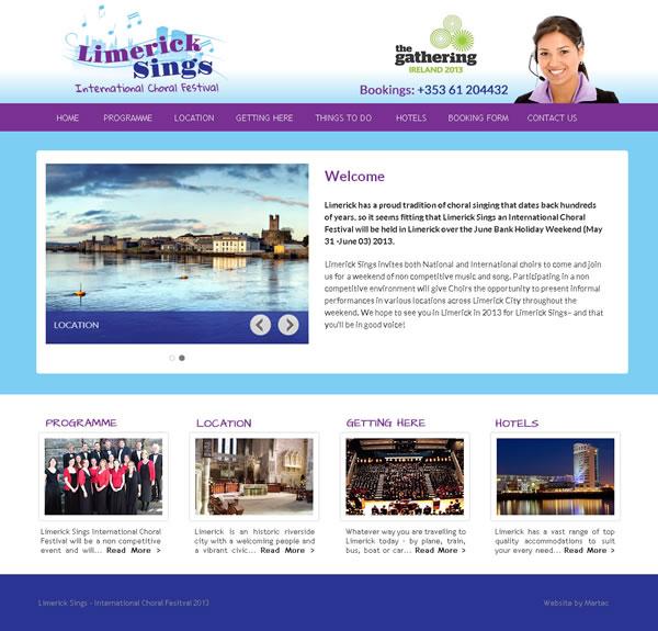 Limerick Sings Festival Gathering Logo & Website