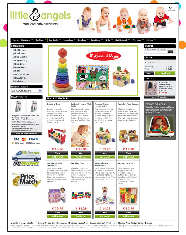 Little Angels Baby Ecommerce Website