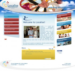 Localise Dublin Logo Design and Web Site Design