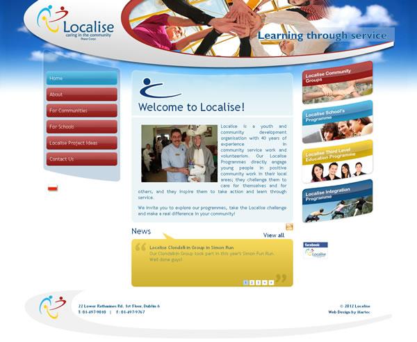 Localise Dublin Logo Design and Web Site Design