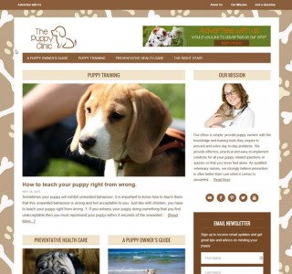 Logo & Website Design for The Puppy Clinic