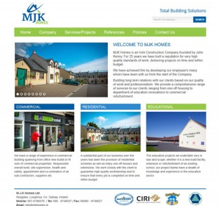 MJK Homes Ireland Logo Design and Website