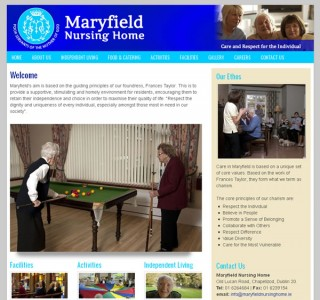 Maryfield Nursing Home Website Design
