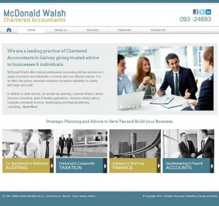 McDonald Walsh Accountants Website Galway Ireland