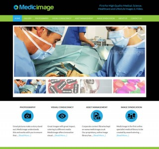 MedicImage London Logo & Website Design
