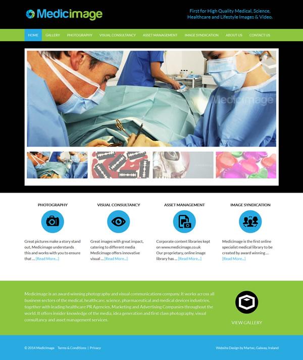 MedicImage London Logo & Website Design