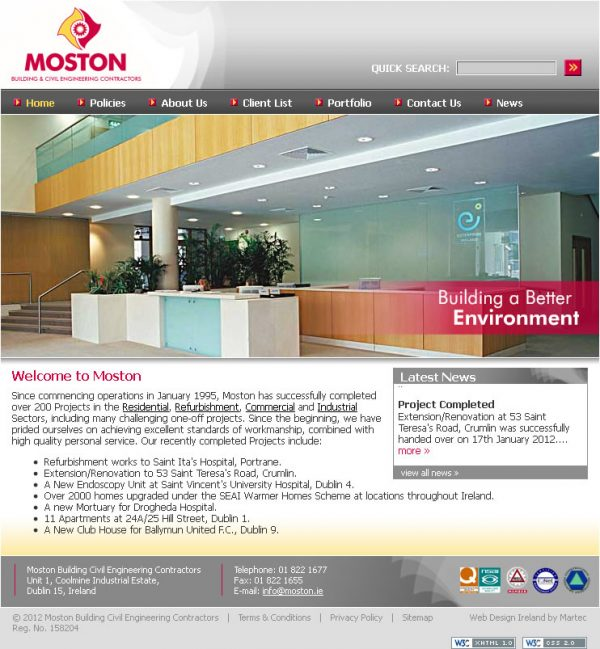 Moston Dublin Website Design