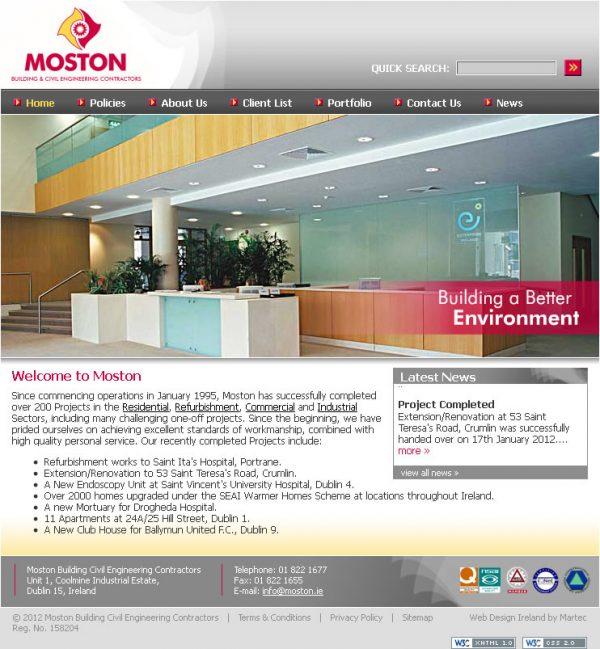 Moston Dublin Website Design