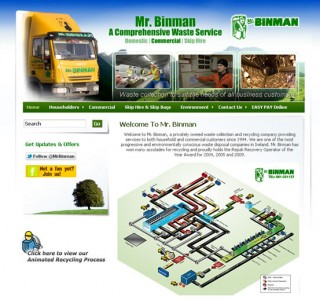 Mr Binman Limerick Website Design