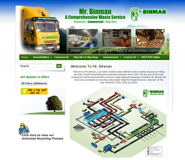 Mr Binman Limerick Website Design