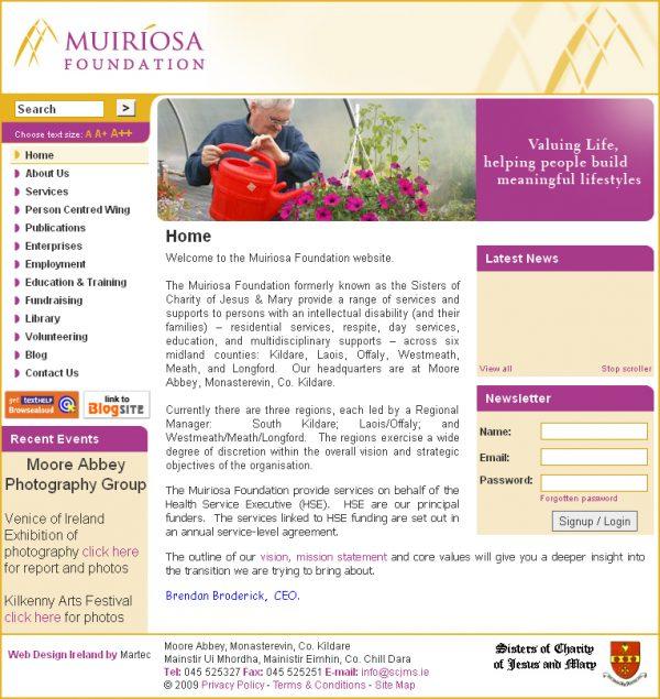 Muiriosa Logo Design and Website