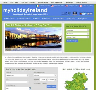 My Holiday Ireland Website Design