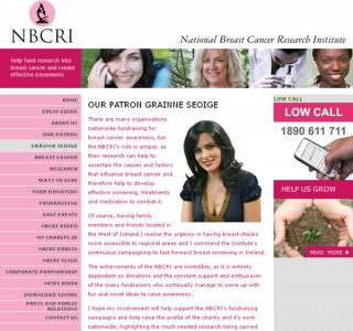 NBCRI Charity Website Design