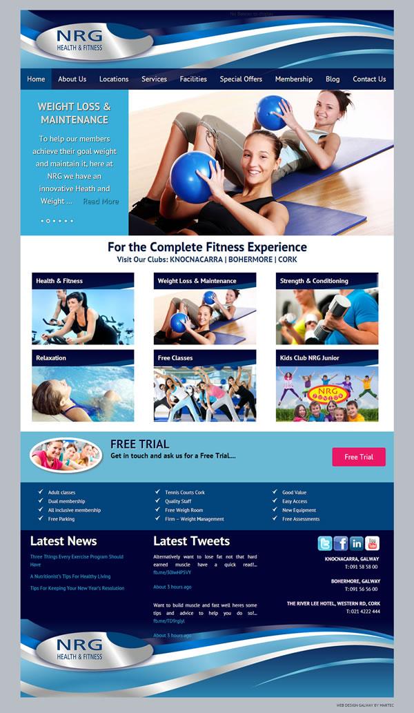 NRG Gym Web Design Galway Ireland