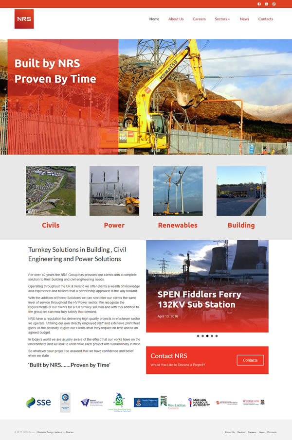 NRS Construction Web Site Design Mayo