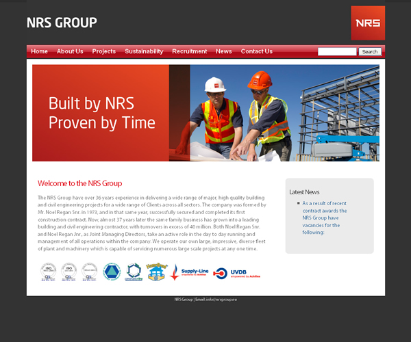 NRS Group Roscommon Website Design