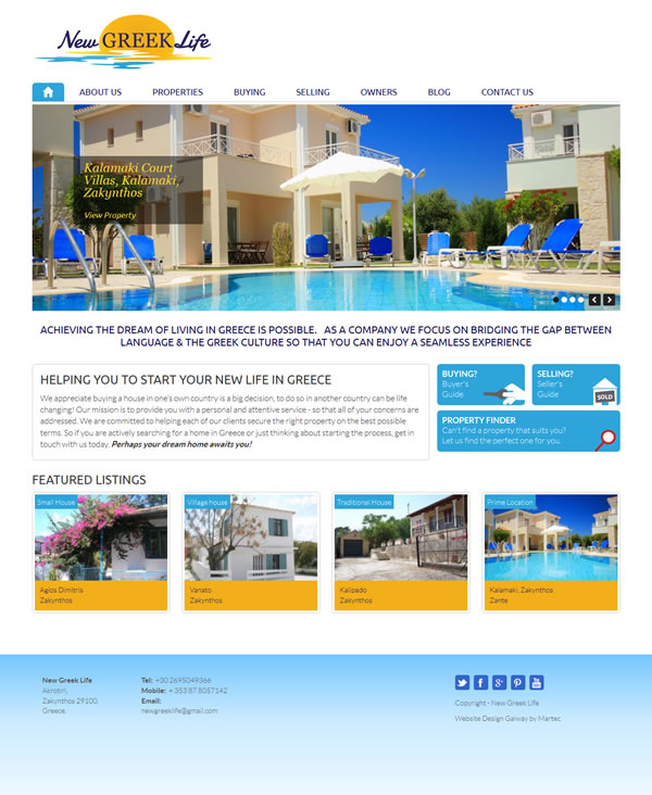 New Greek Life Logo & Website Design Galway