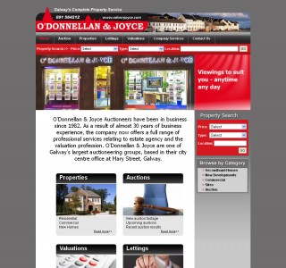 ODonnellan and Joyce Auctioneers Galway Website