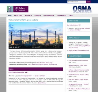OSNA National University of Ireland Galway Website Design
