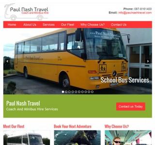 Paul Nash Travel Ireland Logo Design and Website
