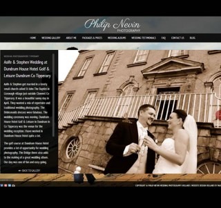 Philip Nevin Wedding Photographers Logo Design and Website
