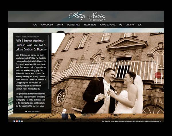 Philip Nevin Wedding Photographers Logo Design and Website