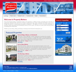 Property Matters Westmeath Website Design