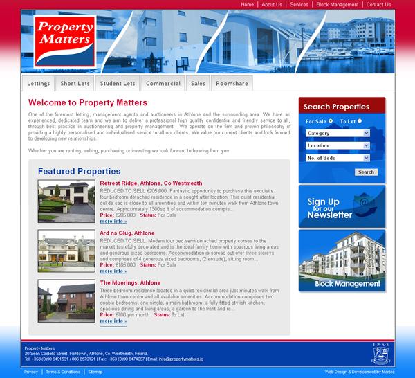 Property Matters Westmeath Website Design