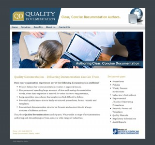 Quality Documentation Galway Ireland Logo &amp; Web Design