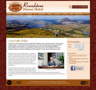 Roundstone House Hotel Website Design