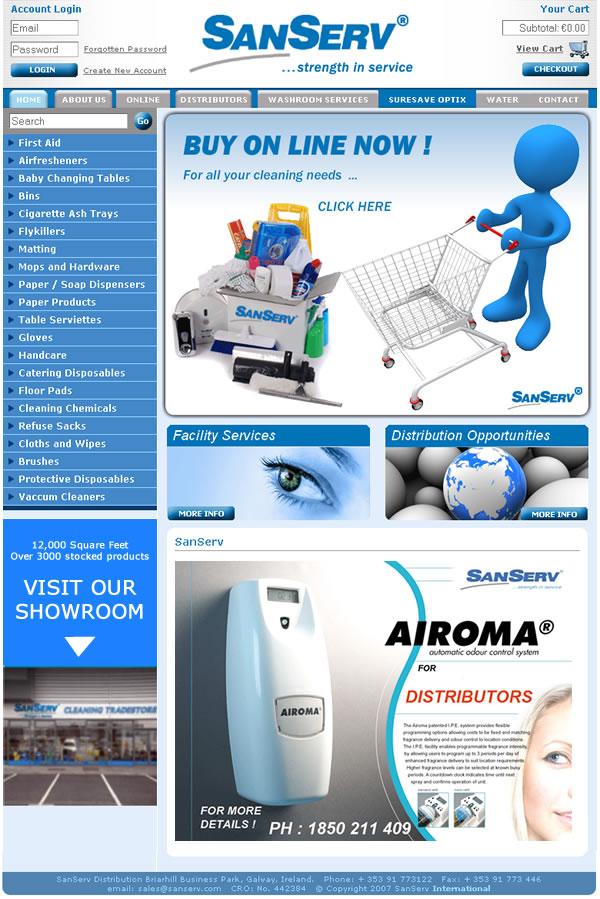 Sanserv Galway Ecommerce Website Design