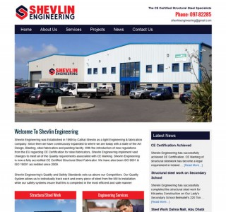 Shevlin Engineering Logo & Website Design Mayo