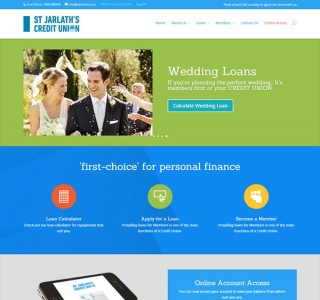 St Jarlath's Credit Union Web Site Design Ireland