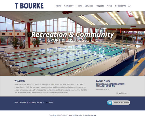 T Bourke Construction Web Design Ireland
