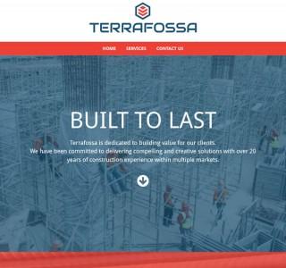 Terrafossa Construction Web Design & Logo Design