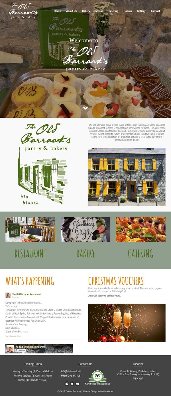 The Old Barracks Restaurant Web Design Galway Ireland