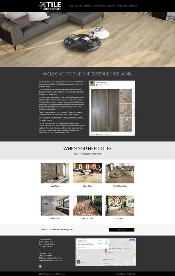 Tile Superstores Web Design Galway Web Design Galway Martec Ireland