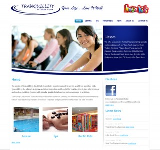 Tranquillity Leisure Galway Website Design
