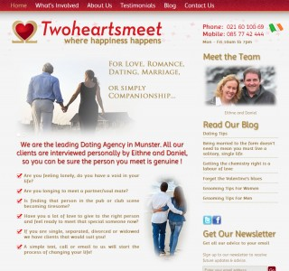 Twoheartsmeet Dating Agency Website Design Cork Ireland