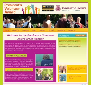 University of Limerick PVA Website Design