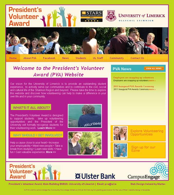 University of Limerick PVA Website Design