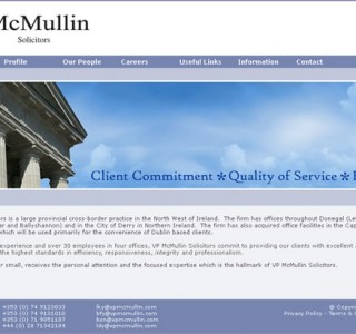 V.P. McMullin Solicitors Website Design